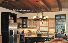 Rustic Log Kitchen Cabinets Appealing Image Of Rustic Cabin Kitchens Decoration Using