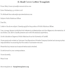 Emailing Cover Letters Format For Email Cover Letter Best Application Letter As Business