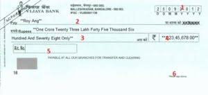 How To Fill Vijaya Bank Cheque Learn Here In Easy Steps