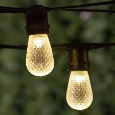 commercial patio lights. Patio Lights - Commercial Warm White LED String Lights, 24 S14 E26 Bulbs Black Wire A