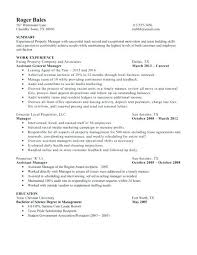 General Manager Resume Summary Examples Best of Property Manager Cover Letter No Experience Account Manager Cover