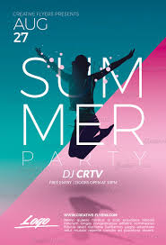 Summer Party Flyers Summer Party Flyer Psd Templates Creativeflyers