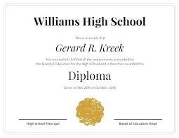 Free Homeschool Diploma Template Blank Diploma Template Hs Diploma Template Homeschool High