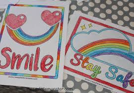 A variety of rainbow coloring pages you can print and color. Rainbow Coloring Pages Hang Rainbows In Windows To Spread Hope And Positivity Messy Little Monster