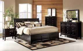 Queen Bedroom Furniture Queen Bed Furniture With Storage In Black Finish Home Interior