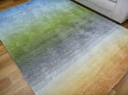 modern design pastel coloured graduation 20 mm thick floor area rug green tap to expand