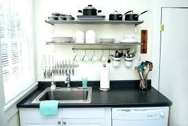 small kitchen shelves student apartment ideas and arrangement appliance simple wall shelf unit sma