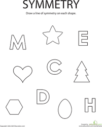 Drawing Lines Of Symmetry Worksheet Education Com