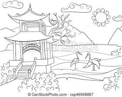nature of an coloring book for children cartoon vector ilration