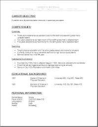 Career Objective For Teacher Resumes Sample Teacher Resume Objective Dovoz