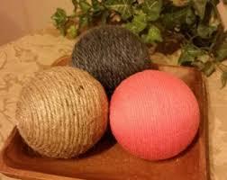 Decorative Bowl With Balls Decorative Yarn Balls Yellow Decorative Yarn Balls Deco 93