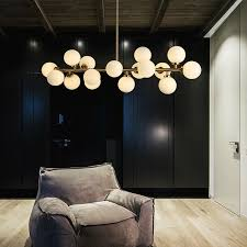 <b>Modern Glass Balls Pendant</b> Lamp Light Luxury Branch Chandelier ...