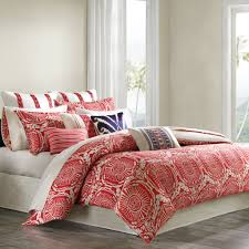 Total Fab: Coral Colored Comforter and Bedding Sets & Coral Colored Bedding: Modern White and Coral Comforter Set Adamdwight.com