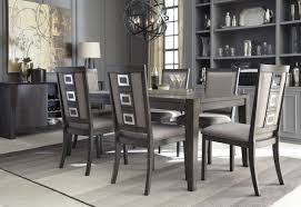 grey leather dining room chairs brilliant ideas charming size dining room grey wallpaper black of grey