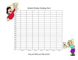 Student Tracking Chart Individual Student Grades Tracking Charts