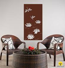 dragonfly lotos panel on laser cut wall art panels with laser cut screen patterns colors and finishes gallery titan cut