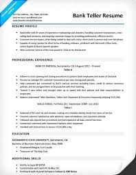 Bank Teller Resume Sample Simple Resume Template For Bank Teller Banking Resume Pattern Banking