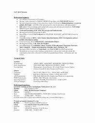 B Pharmacy Resume Format For Freshers Best Of Sap Hr Consultant