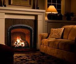 cozy living room with fireplace. Brown Leather Armless Sofa Black Chair Cozy Living Room Wood Coffee Table Hard With Fireplace