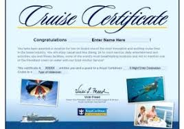 Cruise Gift Certificate Template Cruise Gift Certificate Template 9 Travel Gift Certificate