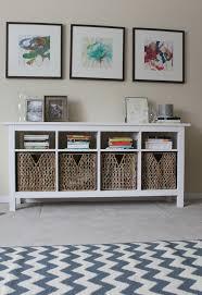storage furniture with baskets ikea. Use Hemnes Sofa Table With Baskets Ideas Storage Furniture Ikea