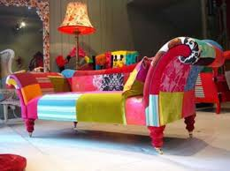furniture chicago victorian colorful chaise created by Sergei