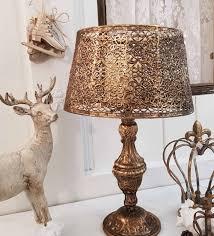 Kerzenleuchter Metall Antikgold Lampe Shabby Vintage Nostalgie Weihnachten Deko