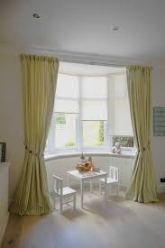 Curtains Bay Window Photo Ideas Blinds Or For Living Room And Drapes