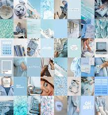 BABY BLUE Aesthetic Wall Collage Kit ...