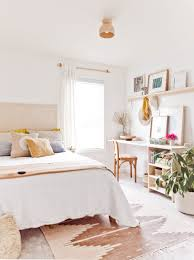 Most likely many of us will definitely choose a different office from the bed. Room Reveal A Guest Room Home Office With Renter Friendly Design Solutions Paper And Stitch
