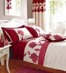 Bedroom Curtains With Matching Bedding | red bedding | matching curtains |  red bed sets