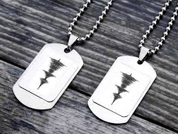 personalized soundwave necklace sentimental gifts for best friends