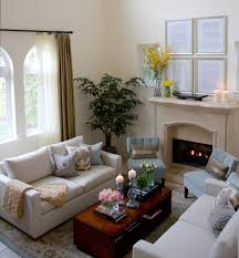 Window Treatment For Small Living Room Blue Sofa Living Room Design Living Room Traditional With Window