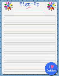 Printable Sign Up Sheets Templates Best Photos Of Sign Up Sheet Printable Party Sign Up Sheet