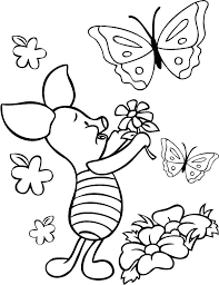 Printable Coloring Pages Of Flowers And Butterflies Butterfly And Flower Coloring Pages Mobelen Info