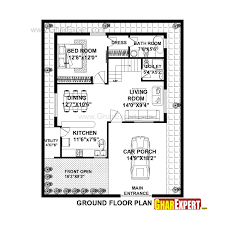 house plan for 36 feet by 45 feet plot plot size 180 square yards gharexpert com