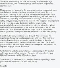 Letter To Airline Response Of United Airlines To My Complaint World