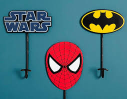Superhero Coat Rack Wallmounted coat rack contemporary metal child's Pottery 21
