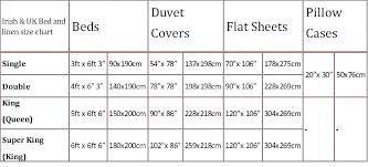 Duvet Cover Size Chart South Africa Bedowntowndaytona Com