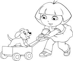 Coloriage Dora Et Son Cheval L