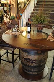 whisky barrel table beautifully handcrafted stonebarnfurnishings