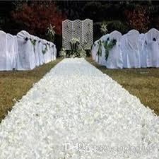 30mwedding aisle runner white rose flower petal carpet for wedding