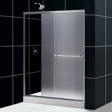 infinity plus sliding door 60 in frosted glass infinity plus sliding shower