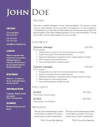 Resume Doc Templates Flightprosim Classy ResumeDoc