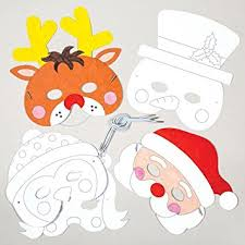 Card Masks To Decorate Christmas Colourin Card Masks for Children to Design Decorate and 16