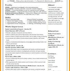Medical Transcription Resume Samples Medical Transcription Resume
