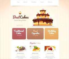 Bakery Website Template Free Cake Responsive Download Senryuinfo