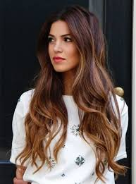 brown ombre bage hairstyle long wavy hair with highlight long brown hair with blonde