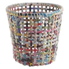 cohen multicoloured recycled magazine waste paper bin  buy now