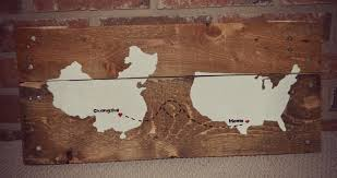 Upcycled Wall Art Diy Wooden Pallet Rustic Map Wall Art